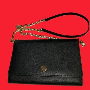 Tory Burch Robinson chain wallet crossbody